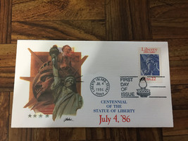 CENTENNIAL OF THE STATUE OF LIBERTY 7/4/86 22c FIRST DAY COVER LOT x 8 Mint - $19.31