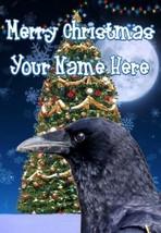 Raven Merry Christmas Personalised Greeting Card Xmas codeTM211 - $3.89