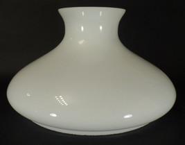 "10"" Fitter Opal White Glass Student Oil Lamp Tam-O-Shanter Shade fits Aladdin - $97.92"