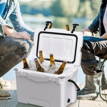20QT Handle Lockable Fishing Camping Cooler Ice Chest - £113.77 GBP