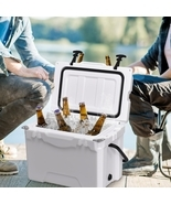 20QT Handle Lockable Fishing Camping Cooler Ice Chest - £112.30 GBP