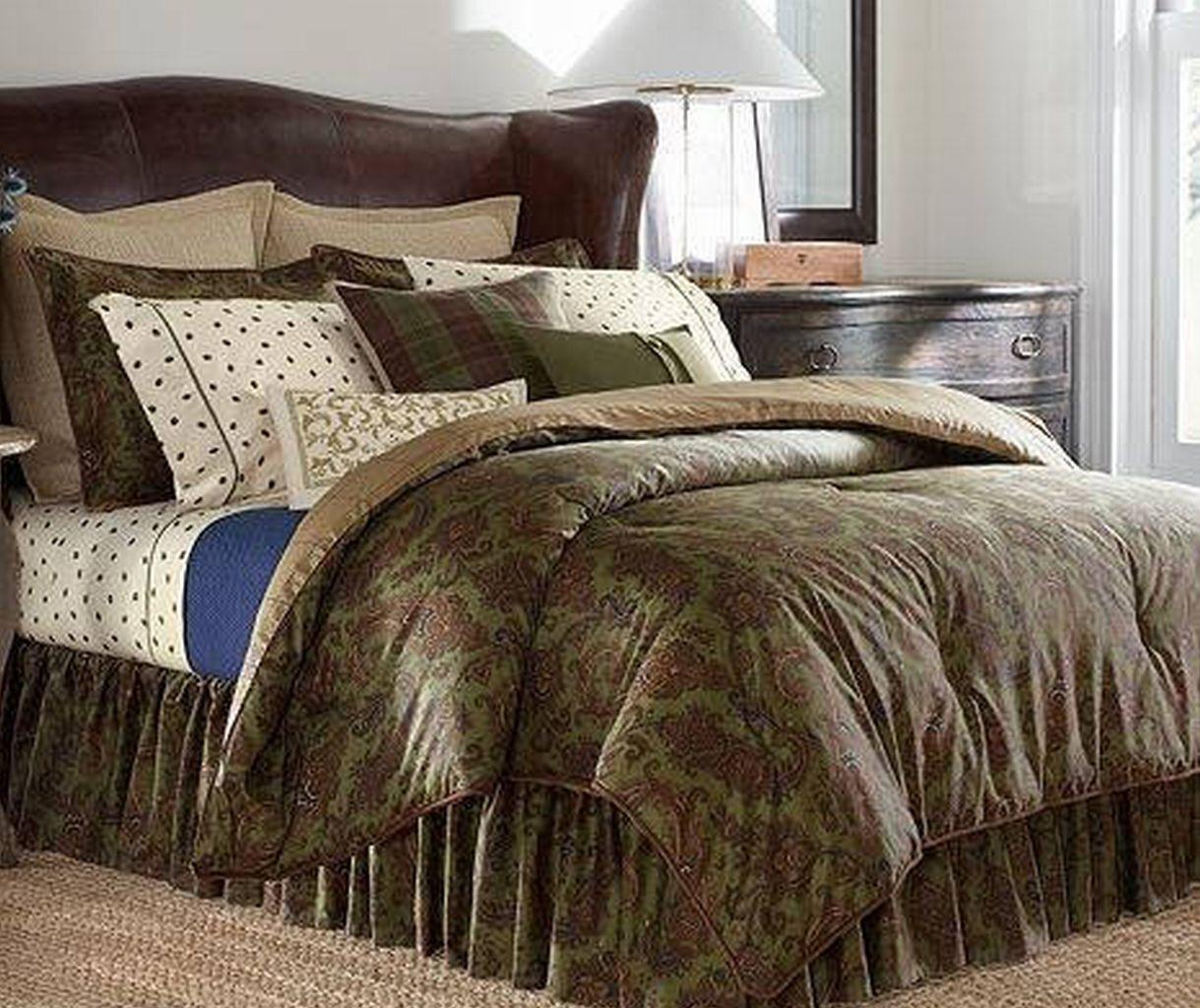 Ralph lauren plaid bedding - Chaps Ralph Lauren Beekman Place Green Paisley Plaid Queen Comforter Set 247 49