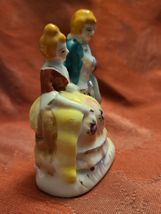 "Vintage Porcelain Figurine - Victorian Man and Woman - Made in Occupied Japan 4"" image 4"