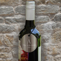 Monogram Wine Bottle Medallions Set of 2 - $22.76