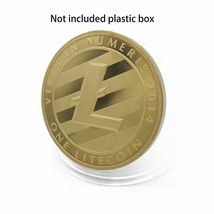 Gold Plated Commemorative Litecoin Collectible Golden Iron Miner Coin - One Item image 2
