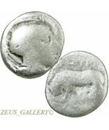 Lucania. Thourioi. ATHENA in Helmet, Bull. 443 BC RARE Ancient Greek Sil... - $89.10