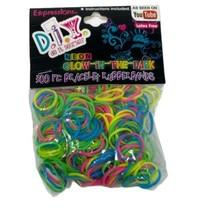 Loom Bands Rainbow Glow in the Dark 300pcs +  Chain Bracelet - $3.99