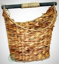 Bath Basket Rustic Toilet Paper Holder Magazine Organizer Compact Portab... - $68.66