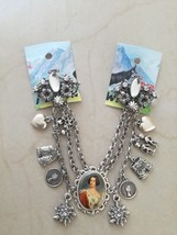 Vintage German Chatelaine Charivari Bracelet portrait signed Alpenwahn - $100.00