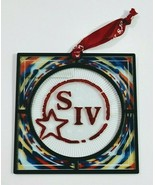 Makers Mark Bourbon acrylic stained glass SIV hanging ornament or coaster - $9.99