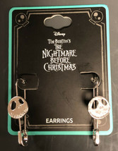 Disney The Nightmare Before Christmas Jack Face Safety Pin Earrings - $18.31