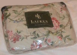 RALPH LAUREN Toulouse Floral Pewter TWIN BEDSKIRT NWT RARE - $29.69