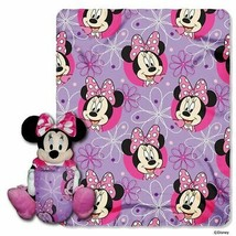 2pc Minnie Mouse Bowtique Buddy Pillow & Throw Blanket Bedroom Bedding P... - $16.99