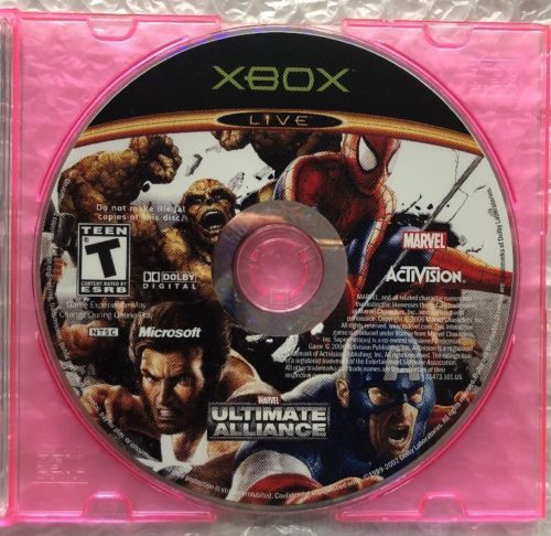 ☆ Marvel Ultimate Alliance 1 (Microsoft Xbox 2006) MUA1 Game Disc ONLY Works ☆