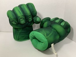 Hulk fabric smash hands sound effects punching gloves costume working Ma... - $12.86