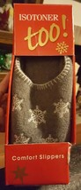 2002 Totes Isotoner Snowflake Slippers Snowball Fleece Clog SZ Large 8-9 NWOT - $8.60