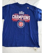 NWT Chicago Cubs 2016 World Series Champions T-shirt size Men's  XL  Blue - $12.34
