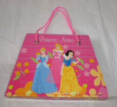 Disney Kids Pink Princess Notes Diary Memo Pad Purse Shape Cinderella Snow White - $8.14