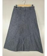 Christopher & Banks Womens A Line Skirt Size 4 Blue Denim Modest Midi Ca... - $28.88