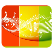 Mouse Pad Music Abstract Beautiful Yellow Musical Scale For Sing A Song Game - $9.00