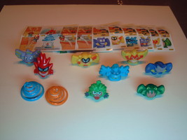 Kinder - 2008 TT038-045 Flying monsters - complete set + 8 papers - surprise egg - $9.00