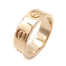 Cartier Love Ring US4.5-5 K18PG Pink Gold Used MINT condition Women Men - $1,063.62