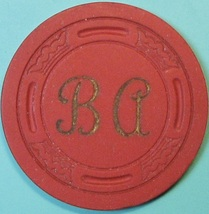Vintage Casino Chip. BA(Bow & Arrow), Bakersfield, CA. 1950s. Q54. - $8.99