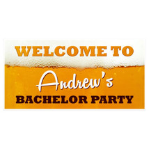 Welcome to Bachelor Beer Party Banner Backdrop Decoration - £17.45 GBP+