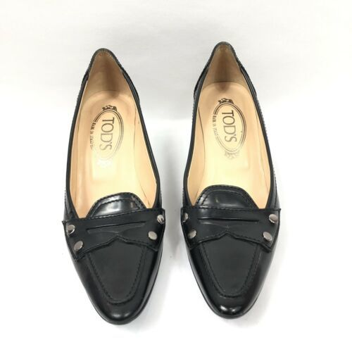 b5d9801625b Tod s Leather Kitten Heel Pumps Size 5 Black and 47 similar items