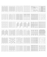 EBoot 1275 Pieces 49 Designs Nail Art Stencils French Tip Guides Sticker... - $18.11