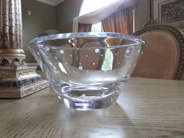 "KATE SPADE FOR LENOX LARABEE DOT LG 9"" BOWL DISPLAY PIECE THICK HEAVY NICE - $84.10"