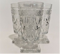 4 Imperial Glass Ohio Cape Cod Clear Goblets Iced Tea Glasses (1602 + 160) - $49.50