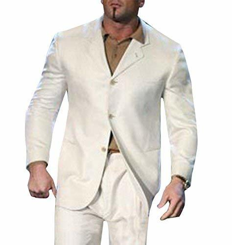 WWE Dave Bautista Mens Slimfit White Suit