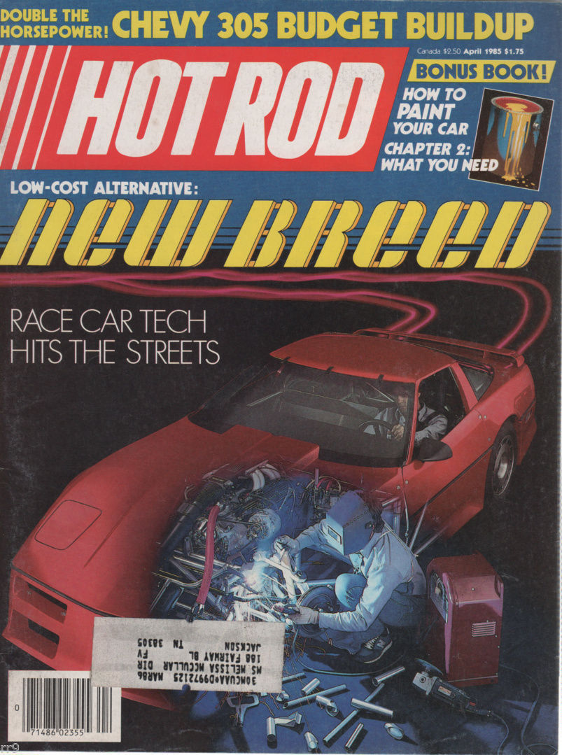 Primary image for Hot Rod  Magazine April 1985 Race Car Tech Hits the Street