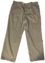 Mens Polo Ralph Lauren Green Gray Casual Chino Pants 36x29 AA71 - $12.59