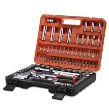 Refurbished 94pcs Socket Ratchet Wrench Automobile(ORANGE) - $138.60