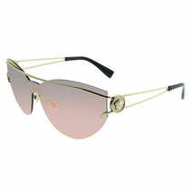 NEW Versace Cat Eye Shield Sunglasses VE 2186 12524Z  PALE GOLD - $167.07