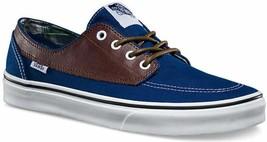 VANS Brigata (Leather/Plaid) Estate Blue Potting Soil Men's Skate Shoes - $47.95+