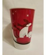 Starbucks 2011 Christmas Holiday Red Mug 16oz. Boy With Dog On A Sled - $9.89