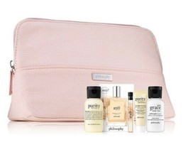 Philosophy perfect pairings PINK Canvas bag 5 pc Gift Set NIP - $24.74