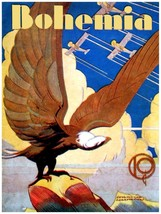 7021.Bohemia.Eagle looking at three planes fly by..POSTER.art wall decor - $10.89+
