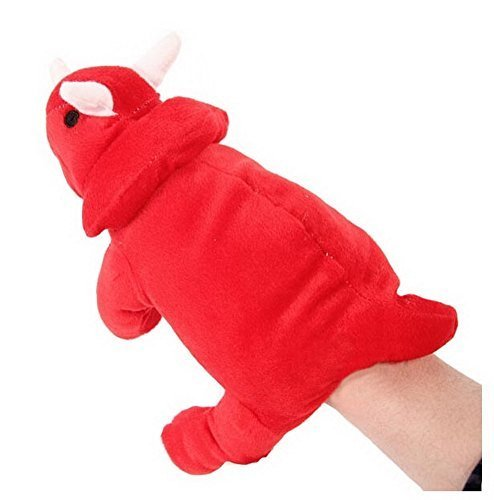 Cartoon hand puppet preschool educational toys for Toddler(Red Dinosaur)