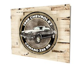 1968 Chevrolet Camaro Z28 RS Muscle Car Design 16x20 Aluminum Wall Art - $59.35