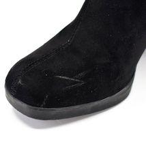 Boohoo Black Velvet Heel Boots UK 8  |EUR 41 | US10 image 5