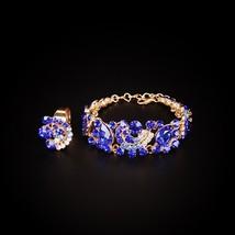 Fashion Indian Bridal Earrings Necklace Set Dubai Luxury Crystal Wedding... - $29.85