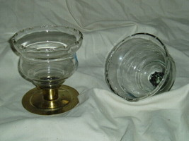 Home Interiors Short Wheat Etched Sconce Cups Homco - $8.99