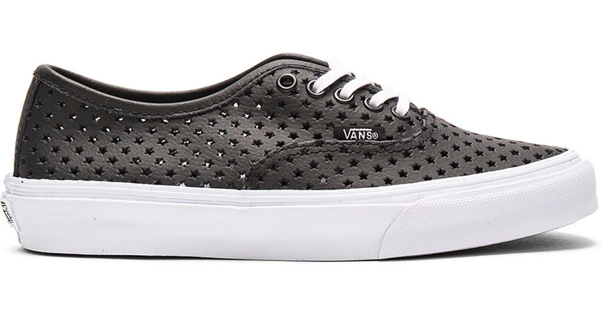 2e1050ca80 Vans Authentic Slim Perf Stars Black Skate and 50 similar items