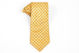 MEN'S Brioni Gold Orange Silk Flower Print Necktie - €53,12 EUR