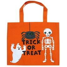 Set of 4 Halloween Kids Candy Bag Trick or Treating Candy Bag(Large Skeleton)