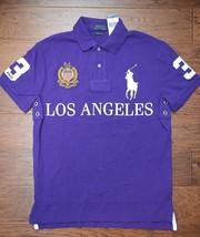 Polo Ralph Lauren Men's Big Pony Custom Slim Fit USA Los Angeles Polo Shirt XL - $53.45